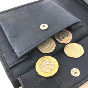 Mens Vegan Wallet - CorkTrifold Minimalist Slim Wallet for Men - Gift for Him - Eco Friend - Blue