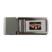 Metal money clip with Lights, Christmas Luminaries, Night