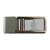 Metal money clip with Handle it MARIO Keep calm