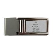 Metal money clip with Handle it ZANDER Keep calm