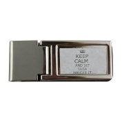 Metal money clip with Handle it LUCA Keep calm