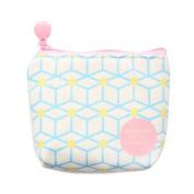 Cartoon Girls Canvas Small Zipper Coin Purse Mini Wallet Earphone Case Bag