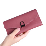 Fashion Women Purse, Faux Leather Card Coins Holder Clutch Long Wallet