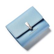 Espeedy Women Short Mini Money Purses Fold Wallets PU Leather Zipper Coin Pocket Card Holder Purse