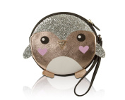 Luv Betsey Johnson Glitter Penguin Wristlet Coin Purse Pouch - Rose Gold