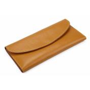 GTUKO RFID Genuine Leather Ladies Long Coin & 7 Card Purse Wallet 19X9.5X0.8Cm , Yellow