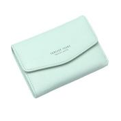 Tianfuheng Women's Simple Letters Short Wallet, Faux Leather Coin Purse Credit Card Holder