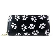 Purse, Fcostume Women Clutch Smiling Face Paw Long Purse Wallet Card Holder Handbag Bag