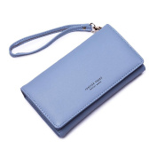 good01 Women Faux Leather Phone Bag Long Wallet Hasp Clutch Card Holder with Zipper