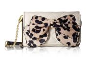 Betsey Johnson Bow Wallet On A String Crossbody