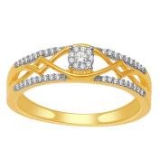 0.1cttw Diamond Wedding Ring 10K Yellow Gold Engagement Ring