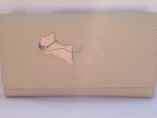 Radley Natural (cream) leather Paws Off Trifold purse RRP £85