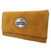 "Creative wallet + chequebook holder 'Lili Petrol'camel vintage - 20x12x3.5 cm (7.87""x4.72""x1.38"")."