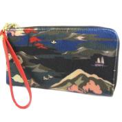 "Zippered wallet + chequebook holder 'Nica'multicoloured - 20x11x2 cm (7.87""x4.33""x0.79"")."