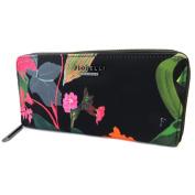 "Zippered wallet + chequebook holder 'Fiorelli'black multicoloured - 19.5x9.5x1.5 cm (7.68""x3.74""x0.59"")."