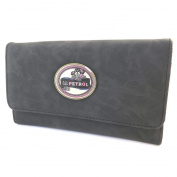 "Creative wallet + chequebook holder 'Lili Petrol'black vintage - 20x12x3.5 cm (7.87""x4.72""x1.38"")."