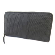 "Leather zipped wallet + chequebook holder 'Gianni Conti'black - 19x10.5x2.5 cm (7.48""x4.13""x0.98"")."