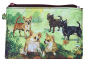Chihuahua Breed of Dog Zipper Lined Purse Pouch Perfect Gift
