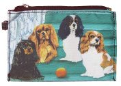 Cavalier KIng Charles Spaniel Breed of Dog Zipper Lined Purse Pouch Perfect Gift