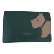 RADLEY 'Mono Dog' Green Leather Medium Purse - RRP £69