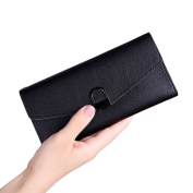Fixuk Elegant Faux Leather Women Purse Card Coins Holder Clutch Long Wallet