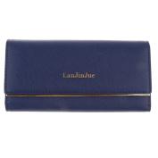 Sharplace Women Girls Wallet Coin Purse Organiser Pocket Credit Card Holder - Blue