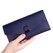 Tianfuheng Women's Elegant Long Wallet Fashion Faux Leather Purse Card Coins Holder Clutch