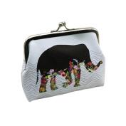Women's Coin Purse Wallet,Longra® Girls Lady Retro Owl Elephant Card Holder Clutch Handbag