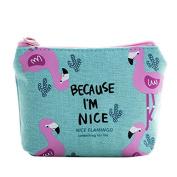 Yiwa Women Girls Cute Fashion Canvas Coin Change Purse Pouch Bag Key Holder Zipper Mini Wallet