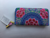 Handmade Tribal Thai Hippie Boho Ethnic Hmong Floral Embroidered Wallet Purse #12