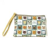 Pengyu Women Fashion Mini Cute Elephant Elk Whale Cat Printed Handbag Coin Purse Wallet