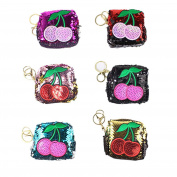 Yiwa Cute Sequin Coin Purse Women Girl Cartoon Lovely Zipper Change Purse Random Colours