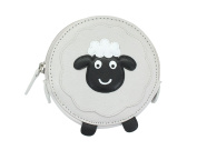 Mala Leather Animal Design Round Leather Coin Purse 4155_11 Sheep