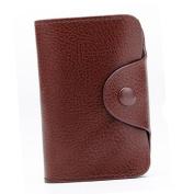 Espeedy Portable PU Leather Wallet Pocket Holder Credit Card Case for Men Women