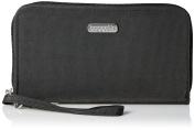 Baggallini RFID Travel Continental Zip Around Wallet Wristlet Charcoal
