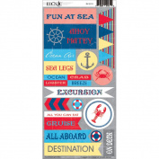 Bon Voyage Cardstock Stickers-