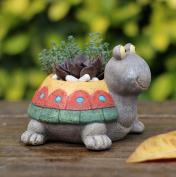 Resin Succulent Flower Pot Turtle Planter Micro Landscape Garden Office Home Decoration Flowerpot