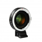 Viltrox EF-E II F Booster Lens Adapter for Canon EF lens to Sony A7 A9 A7R A7S A6300 A6500, Support CDAF PDAF Focus/Auto focus/Enlarge aperture/Reduce focus