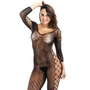 Bluestercool Women's Hollow Out Bandage Bodystocking Ladies Strap Bodysuit Lingerie