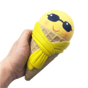Emoji Ice Cream Squishy Toy,Luoluoluo Squishy Stress Relief Toys Scented Squishy Slow Rising Squeeze Toy Jumbo Collection