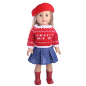 Ouneed 46cm Our Generation American Girl Doll Cute Sweater Hat Outfits