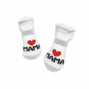 Livecity Cute Love Mama/Papa Letters Socks Cute Infant Baby Girl Boy Soft Warm Gift