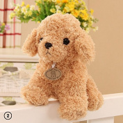 ZHUOTOP 18cm Cute Dog Plush Toys Stuffed Creative Dog Pillow Doll Soft Cushion Gift Beige