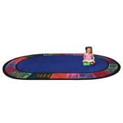 Kid Carpet Alpha Circle Time ABC Blue Area Rug