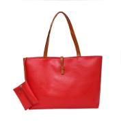 Bluelans Women Faux Leather Tote Shoulder Bags Fashion Handbags Satchel Purse Gift