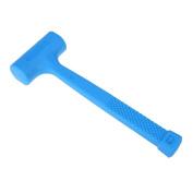 Demiawaking No Elastic Hammer Antislip Striking Rubber Hammer Repair Tools Blue