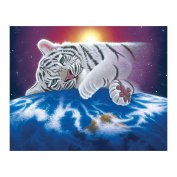 Demiawaking White Tiger 5D Diamond Painting Embroidery DIY Cross Stitch Home Decor