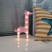 Missley Lovely Unicorn LED Animal LED Night Light For Kids Children's Gift Indoor Lighting Chrismas Party Wedding Room Decoration