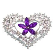Cosanter Love Brooch Wedding Brooch Accessories For Women Girl Purple
