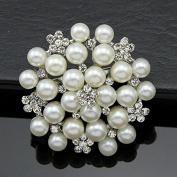 Cosanter Ladies Fashion Alloy Pearl Diamond Bouquet Brooch